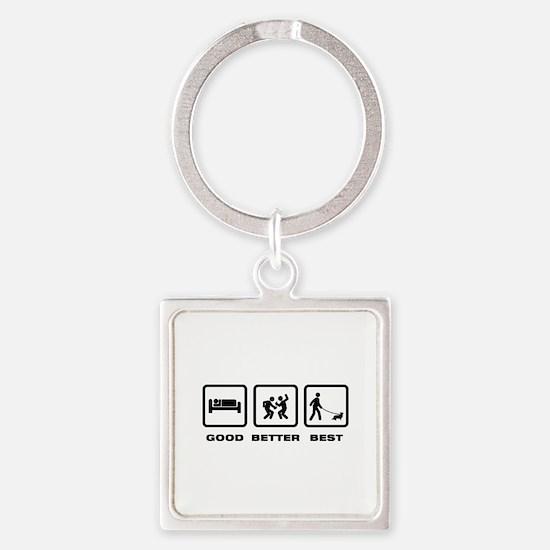 Cardigan Welsh Corgi Square Keychain