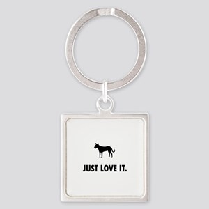 Carolina Dog Square Keychain