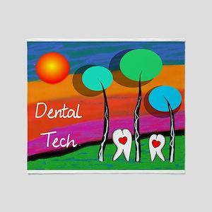 Dental Tech Throw Blanket