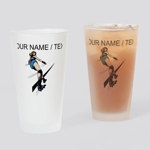 Custom Roller Derby Drinking Glass