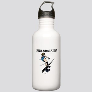 Custom Roller Derby Sports Water Bottle