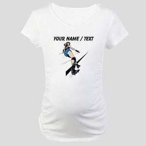 Custom Roller Derby Maternity T-Shirt