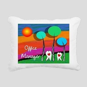 Dental Office Manager Rectangular Canvas Pillow