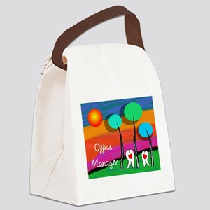 Dental Office Manager Canvas Lunch Bag