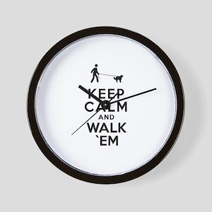 Central Asian Shepherd Wall Clock
