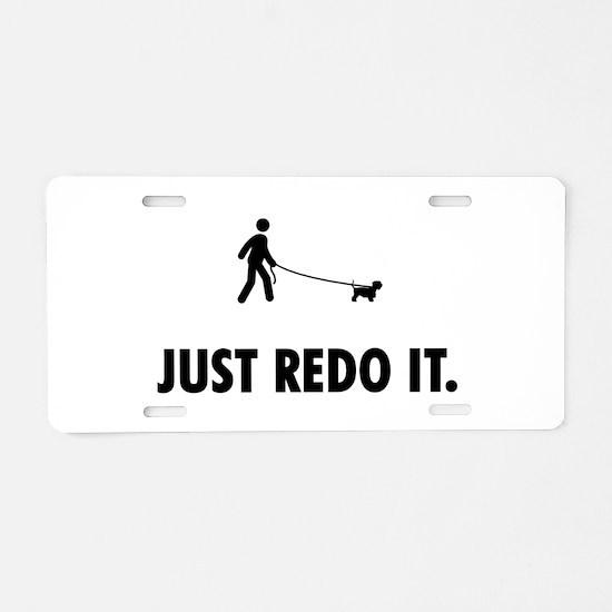 Cesky Terrier Aluminum License Plate