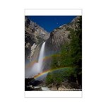 Yosemite Falls with a double moonbow Mini Poster.