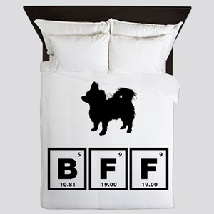 Chihuahua Longhaired Queen Duvet
