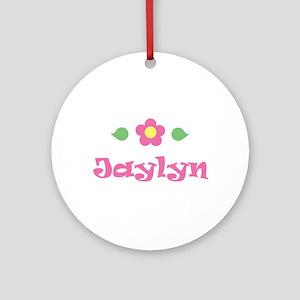 "Pink Daisy - ""Jaylyn"" Ornament (Round)"