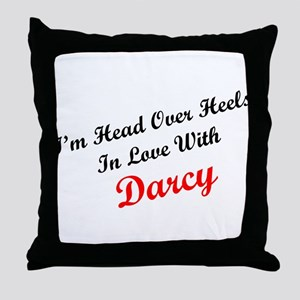 In Love with Darcy Throw Pillow