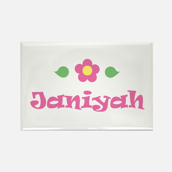 "Pink Daisy - ""Janiyah"" Rectangle Magnet"