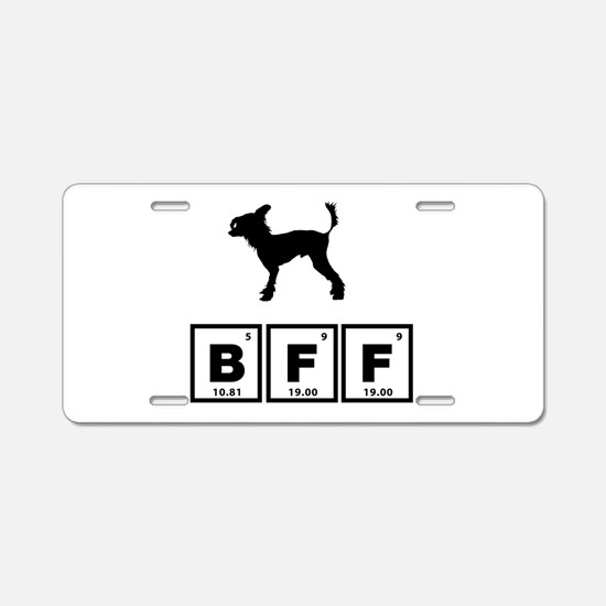 Chinese Crested Dog Aluminum License Plate