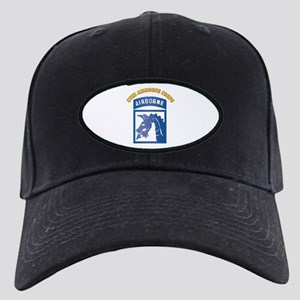 SSI - XVIII Airborne Corps with Text Black Cap