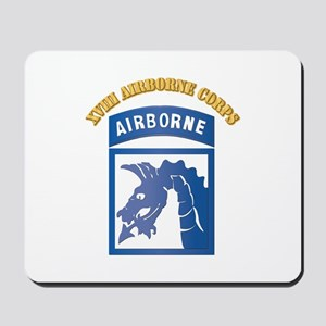 SSI - XVIII Airborne Corps with Text Mousepad