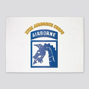 SSI - XVIII Airborne Corps with Text 5'x7'Area Rug