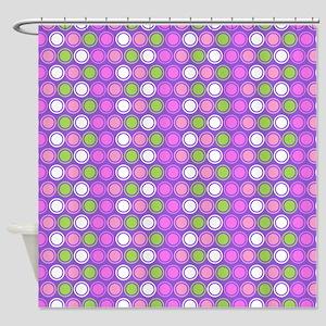 Retro Circles Shower Curtain