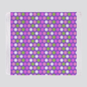 Retro Circles Throw Blanket