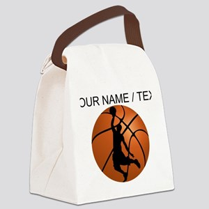 Custom Basketball Dunk Silhouette Canvas Lunch Bag