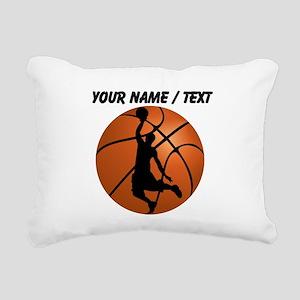 Custom Basketball Dunk Silhouette Rectangular Canv