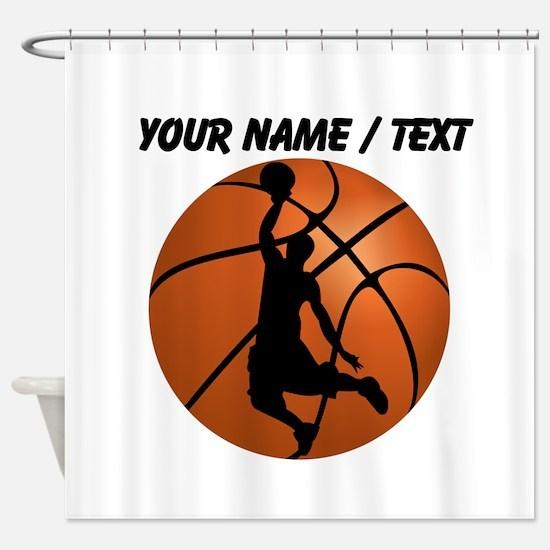 Custom Basketball Dunk Silhouette Shower Curtain