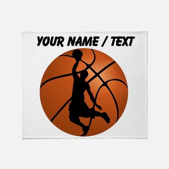 Custom Basketball Dunk Silhouette Throw Blanket