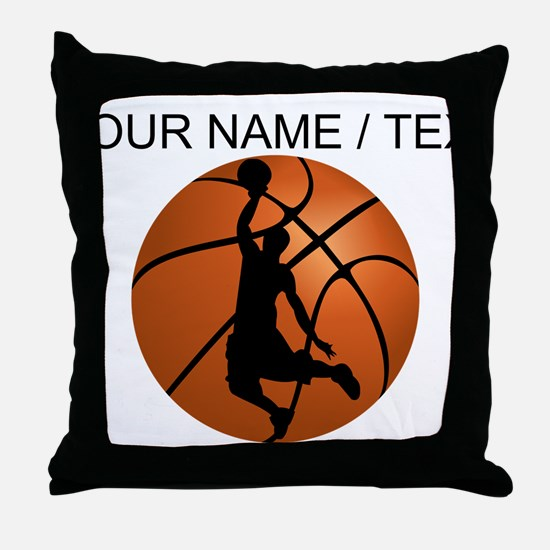 Custom Basketball Dunk Silhouette Throw Pillow