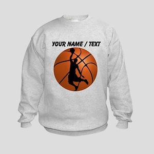 Custom Basketball Dunk Silhouette Sweatshirt