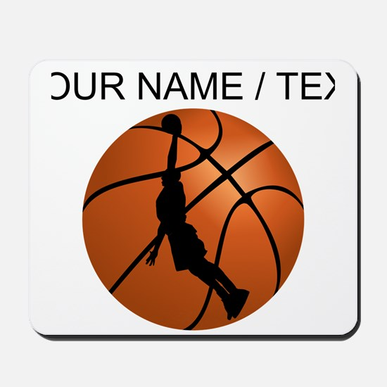 Custom Basketball Dunk Silhouette Mousepad