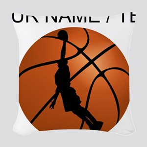 Custom Basketball Dunk Silhouette Woven Throw Pill