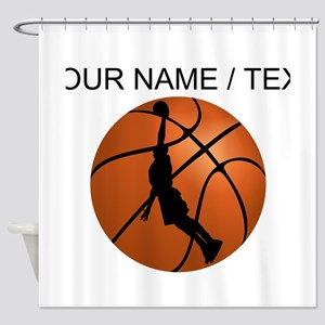 Custom Basketball Dunk Silhouette Shower Curtain