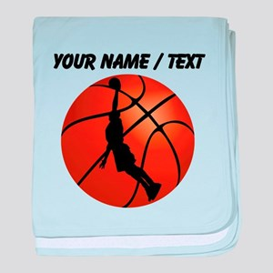 Custom Basketball Dunk Silhouette baby blanket
