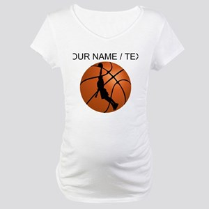 Custom Basketball Dunk Silhouette Maternity T-Shir