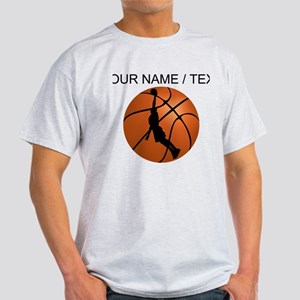 Custom Basketball Dunk Silhouette T-Shirt