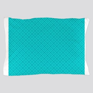 Blue Damask Pillow Case