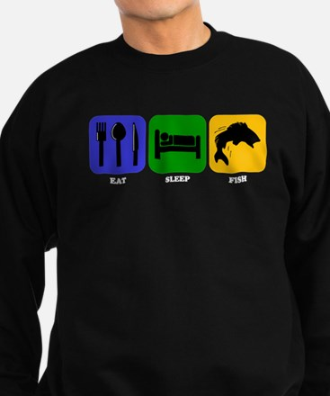 Eat Sleep Fish Sweatshirt