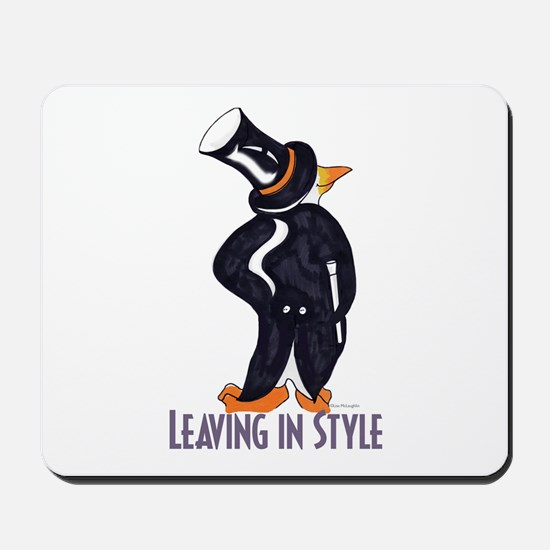 Penguin Leaving in style Mousepad