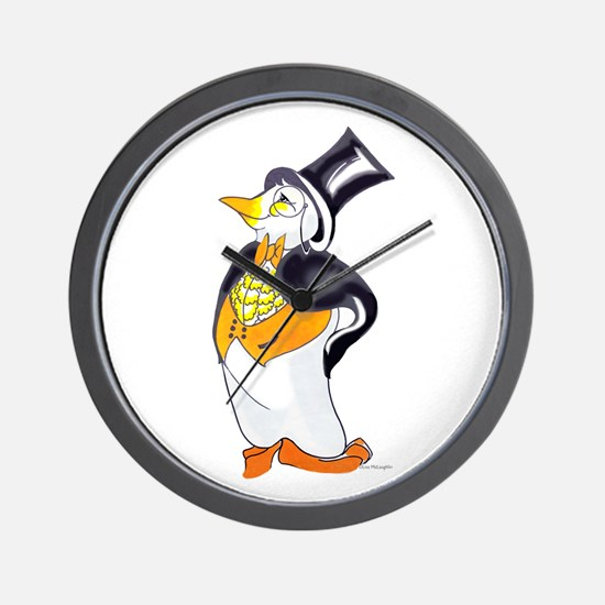 Penguin with style Wall Clock