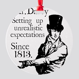 Mr. Darcy close up Round Ornament