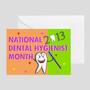 NATIONAL DENTAL HYGIENIST MONTH CARD Greeting Card