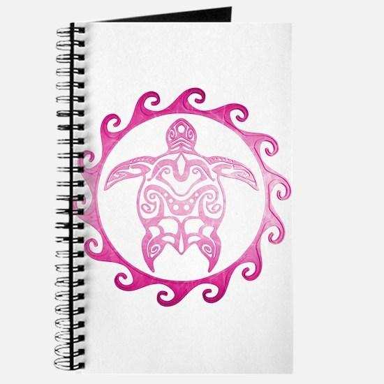 Pink Tribal Turtle Sun Journal