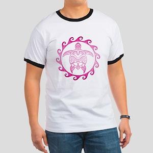 Pink Tribal Turtle Sun T-Shirt