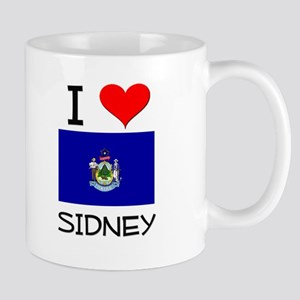 I Love Sidney Maine Mugs