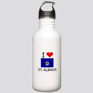 I Love St. Albans Maine Water Bottle