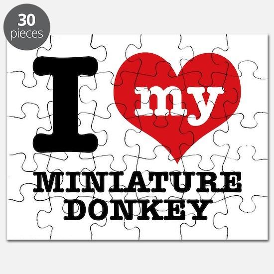 I love my Miniature Donkey Puzzle