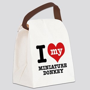 I love my Miniature Donkey Canvas Lunch Bag