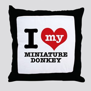 I love my Miniature Donkey Throw Pillow