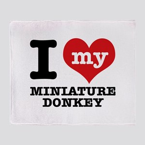 I love my Miniature Donkey Throw Blanket