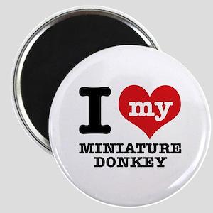 I love my Miniature Donkey Magnet