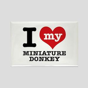 I love my Miniature Donkey Rectangle Magnet