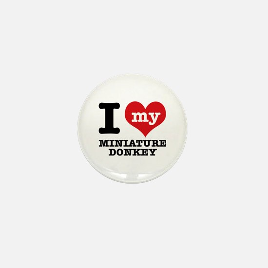I love my Miniature Donkey Mini Button